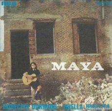 Discos de vinilo: MAYA, INDIECITO DORMIDO. (VICTOR 1966) SINGLE -OBSEQUIO POSTAL PROMO DE LA ARTISTA-. Lote 172358924