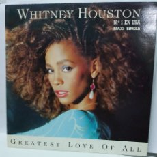 Disques de vinyle: MAXI ** WHITNEY HOUSTON ** GREATEST LOVE ON ALL ** COVER/ MINT ** MAXI/ MINT ** 1985. Lote 172364057