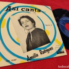 Discos de vinil: AMALIA RODRIGUES FALLASTE CORAZON/POR UN AMOR/GRANO DE ARROZ/TREPA AL COCOTERO EP 1958 SPAIN ESPAÑA. Lote 172406587