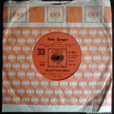 Discos de vinilo: PETE SEEGER EN CONCIERTO - GUANTANAMERA / NOSOTROS VENCEREMOS (WE SHALL OVERCOME) 33 RPM ARGENTINA. Lote 172423794