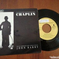 Discos de vinilo: CHAPLIN JOHN BARRY BSO 1 CARA EPIC PROMO 1993. Lote 172426483