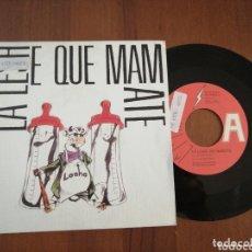 Discos de vinilo: LA LESHE QUE MAMATE LA MORAGAS FÁBRICA MAGNÉTICA PROMO 1990. Lote 172427449