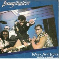 Discos de vinilo: IMAGINATION - MUSIC AND LIGHTS (TWO VERSION) (SINGLE PROMO ESPAÑOL, RED BUS RECORDS 1982). Lote 186419900