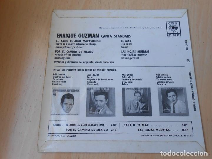 Discos de vinilo: ENRIQUE GUZMAN, EP, EL AMOR ES ALGO MARAVILLOSO + 3, AÑO 1963 - Foto 2 - 172462500