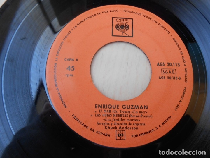 Discos de vinilo: ENRIQUE GUZMAN, EP, EL AMOR ES ALGO MARAVILLOSO + 3, AÑO 1963 - Foto 4 - 172462500