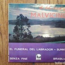 Discos de vinilo: MALVICINO - SENZA FINE + BRASILIA + EL FUNERAL DEL LABRADOR + SUNNY . Lote 172468374