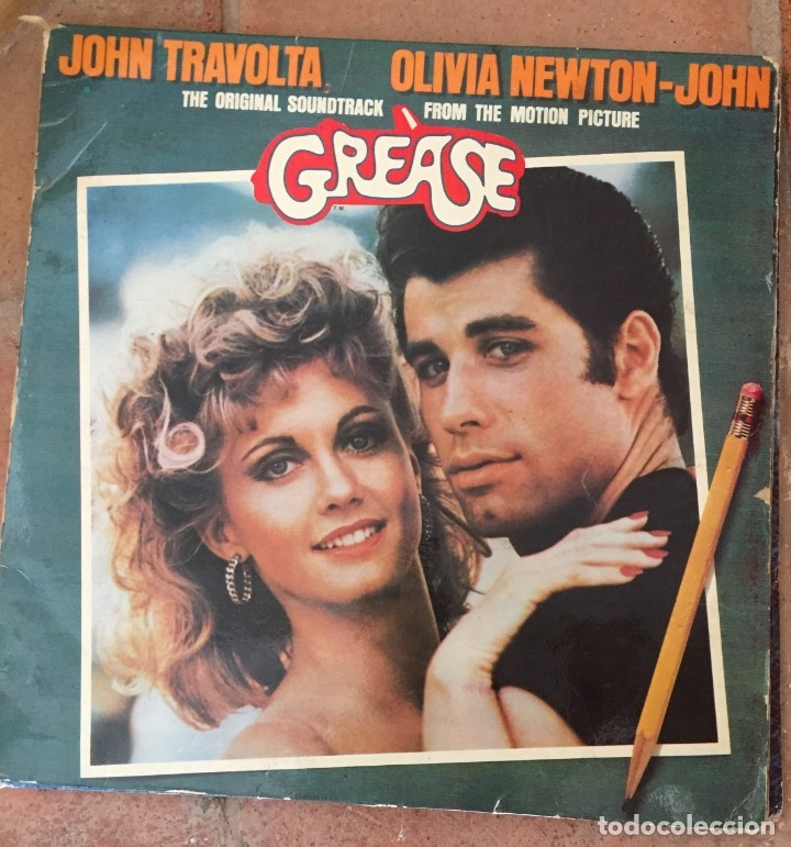 GREASE JOHN TRAVOLTA OLIVIA NEWTON-JOHN (Música - Discos - LP Vinilo - Bandas Sonoras y Música de Actores )