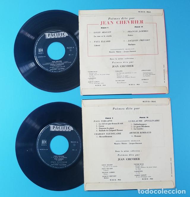 Discos de vinilo: LOTE 2 EPS DE JEAN CHEVRIER POEMAS DE LOUIS ARAGON, PAUL EDUARD, VERLEAINE, BOUDELAIRE, RIMBAUD... - Foto 3 - 172516624