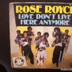 Discos de vinilo: ROSE ROYCE- LOVE DON´T LIVE. SINGLE.. Lote 172520014