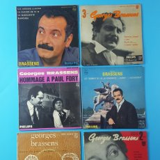 Dischi in vinile: LOTE 6 EPS DE GEORGES BRASSENS, PHILIPS MEDIUM, VER DESCRIPCION E IMAGENES. Lote 172531453