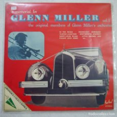 Discos de vinilo: GLEN MILLER - A MEMORIAL FOR GLEN MILLER VOL. 1 - 2 LP 1976 . Lote 172557422