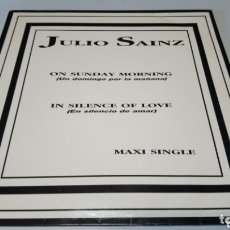 Discos de vinilo: JULIO SAÍNZ – ON SUNDAY MORNING (UN DOMINGO POR LA MAÑANA) VINILO BUEN DÍA ESTADO. Lote 172572682