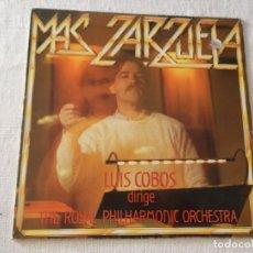 Discos de vinilo: LP LUIS COBOS MAS ZARZUELA THE ROYAL PHILHARMONIC ORCHESTRA . Lote 172584684