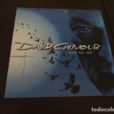 Discos de vinilo: DAVID GILMOUR - ON AN ISLAND - TOUR PROGRAMME - RICK WRIGHT - PINK FLOYD - COMO NUEVO. Lote 172617812