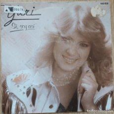 Discos de vinilo: YURI - SÍ, SOY ASÍ - SINGLE HISPAVOX SPAIN 1983. Lote 172633589