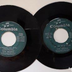 Discos de vinilo: LOTE 2 SINGLES DE LOS IBEROS SIN CARATULA. Lote 172642820