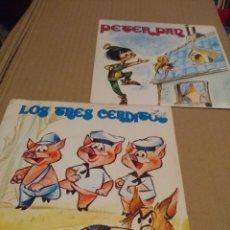 Discos de vinilo: 2 CUENTO DISCOS : LOS 3 CERDITOS + PETER PAN . Lote 172653165