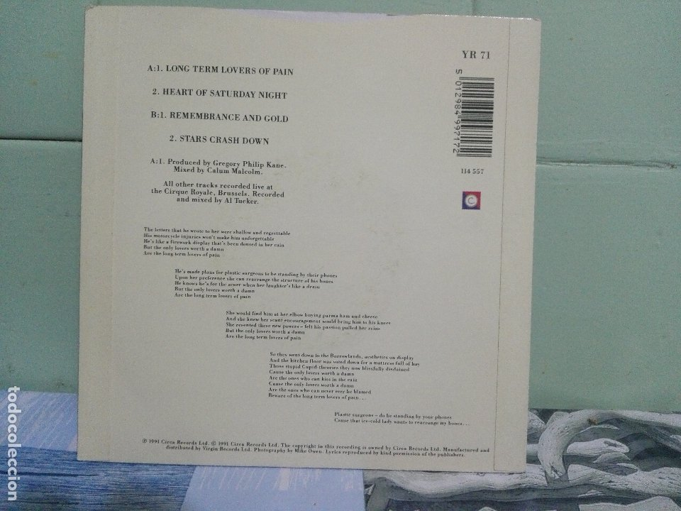 Discos de vinilo: HUE & CRY LONG TERM LOVERS OF PAIN EP UK 1991 PDELUXE - Foto 2 - 172661069