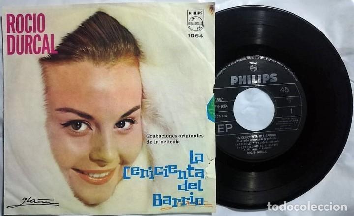 ROCÍO DÚRCAL - LA CENICIENTA DEL BARRIO DEL AÑO 1964 MEXICO (BANDA SONORA RARA) (Música - Discos de Vinilo - EPs - Flamenco, Canción española y Cuplé)