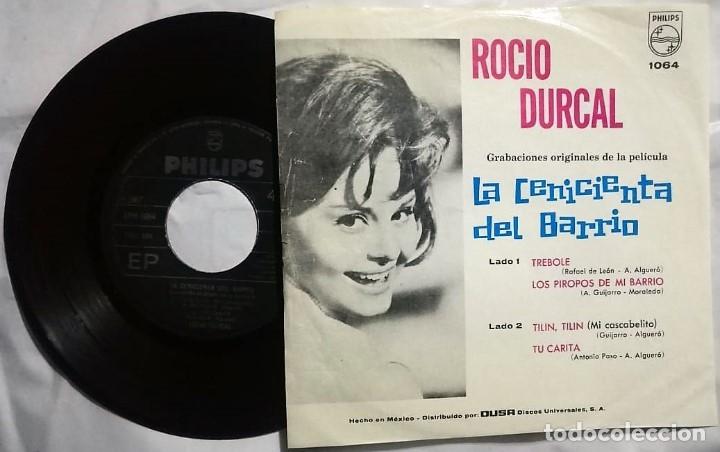 Discos de vinilo: Rocío Dúrcal - La Cenicienta Del Barrio del año 1964 Mexico (banda sonora rara) - Foto 2 - 172672580