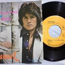 Discos de vinilo: EMMANUEL - SEÑORA HORA POR HORA / NEGRA MARÍA DEL AÑO 1978 MÉXICO (RARO). Lote 172675589