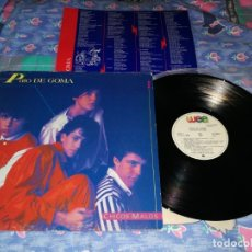 Discos de vinilo: PATO DE GOMA CHICOS MALOS LP VINILO CON ENCARTE 1984 TINO CASAL RICKY MORALES LOS BRINCOS. Lote 172682137