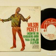 Discos de vinilo: SINGLE - WILSON PICKETT : I FOUND A TRUE LOVE + FOR BETTER OR WORSE (ATLANTIC, 1968) SOUL - R&B. Lote 172684879
