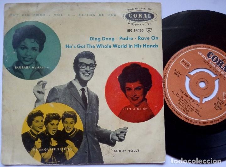 VARIOS - THE BIG FOUR VOL 3 - EP 1958 - CORAL - BUDDY HOLLY (Música - Discos de Vinilo - EPs - Pop - Rock Extranjero de los 50 y 60)