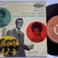 Discos de vinilo: VARIOS - THE BIG FOUR VOL 3 - EP 1958 - CORAL - BUDDY HOLLY . Lote 172706904