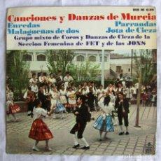 Discos de vinilo: EP VINILO CANCIONES Y DANZAS DE MURCIA ENREDOS, PARRANDAS, MALAGUEÑAS DE DOS, JOTAS DE CIEZA 1967. Lote 172718100
