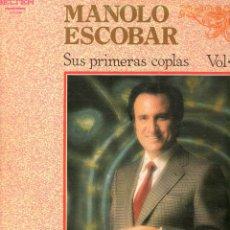Discos de vinilo: MANOLO ESCOBAR SUS PRIMERAS COPLAS VOL 2 1981 BELTER 2-27.342. Lote 172727419