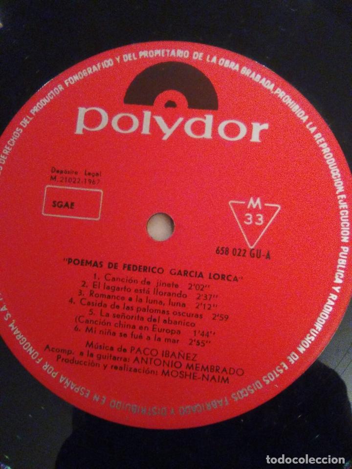 Discos de vinilo: PACO IBAÑEZ Federico Garcia Lorca Luis de Gongora ( 1967 POLYDOR ESPAÑA ) - Foto 5 - 172732320