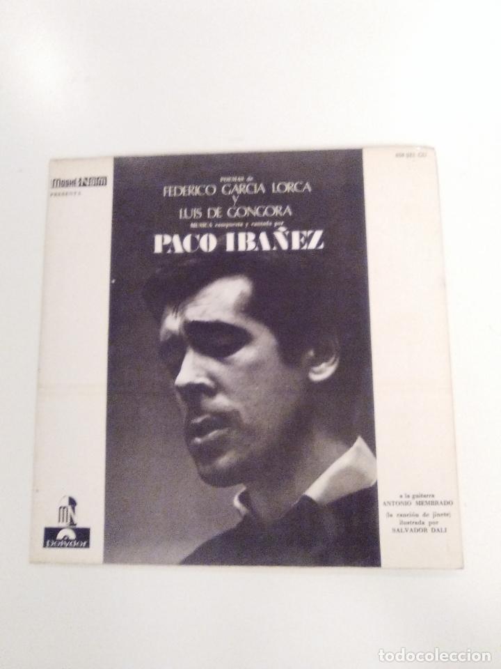 PACO IBAÑEZ FEDERICO GARCIA LORCA LUIS DE GONGORA ( 1967 POLYDOR ESPAÑA ) (Música - Discos - LP Vinilo - Solistas Españoles de los 50 y 60)