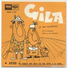 Discos de vinilo: GILA - ES EL ENEMIGO. Lote 182704635