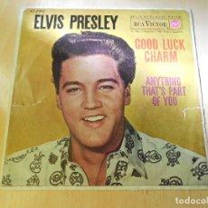 Discos de vinil: ELVIS PRESLEY, SG, GOOD LUCK CHARM + 1, AÑO 1962. Lote 172753304