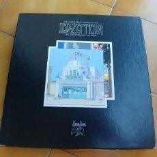 Discos de vinilo: LED ZEPPELIN-THE SONG REMAINS THE SAME-BOX 4 LP + LIBRETO. Lote 172753648