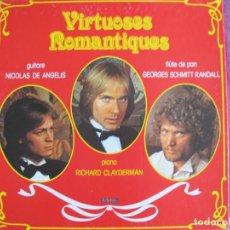 Discos de vinilo: LP - VIRTUOSOS ROMANTICOS - RICHARD CLAYDERMAN, NICOLAS DE ANGELIS, GEORGES SCHMITT RANDALL. Lote 172756783