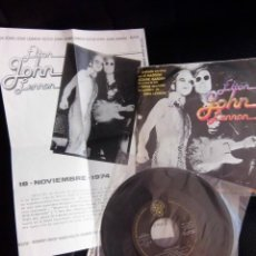 Discos de vinilo: BEATLES JOHN LENNON ELTON JOHN SINGLE PROMOCIONAL MADE IN SPAIN HOJA INFORMATIVA . Lote 172764990