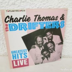 Discos de vinilo: HOMAS AND THE DRIFTERS. GREATEST HITS LIVE. LP VINILO. TOPLINE RECORDS SERDISCO 1988.. Lote 172774009