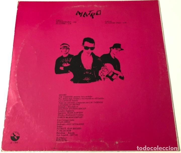 Discos de vinilo: Metro - No Es Extraña? Maxisingle Promocional - Foto 2 - 172774944