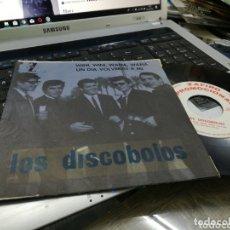 Discos de vinilo: LOS DISCOBOLOS SINGLE PROMOCIONAL WINI,WINI,WANA,WANA 1964 EN PERFECTO ESTADO. Lote 172779280
