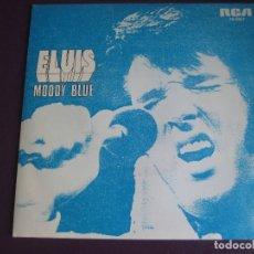 Disques de vinyle: ELVIS PRESLEY SG RCA PROMO 1977 - MOODY BLUE +1 SIN ESTRENAR. Lote 172795078