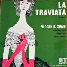 Discos de vinilo: VERDI |LP | LA TRAVIATA- VURGINA ZEANI - SAGA 5175 - VG+. Lote 172806952