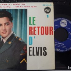 Discos de vinilo: ELVIS PRESLEY - EP 45 RPM - FRANCIA - LE RETOUR D'ELVIS. Lote 172807039