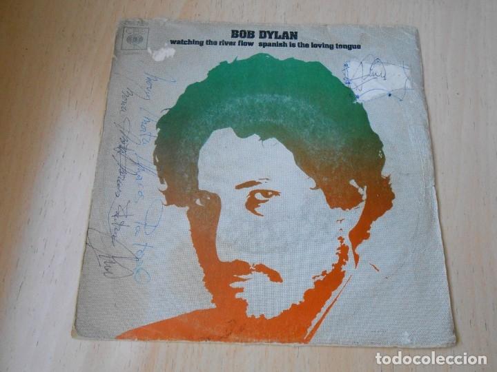 BOB DYLAN, SG, WATCHING THE RIVER FLOW + 1, AÑO 1971 (Música - Discos - Singles Vinilo - Pop - Rock - Extranjero de los 70)