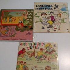 Discos de vinilo: 3 EP DE CANCIONES POPULARES INFANTILES : CARABI HURI, PIPIRIGAÑA, MARIQUITA, PIRULITA, UNI DOLI ETC. Lote 172816843