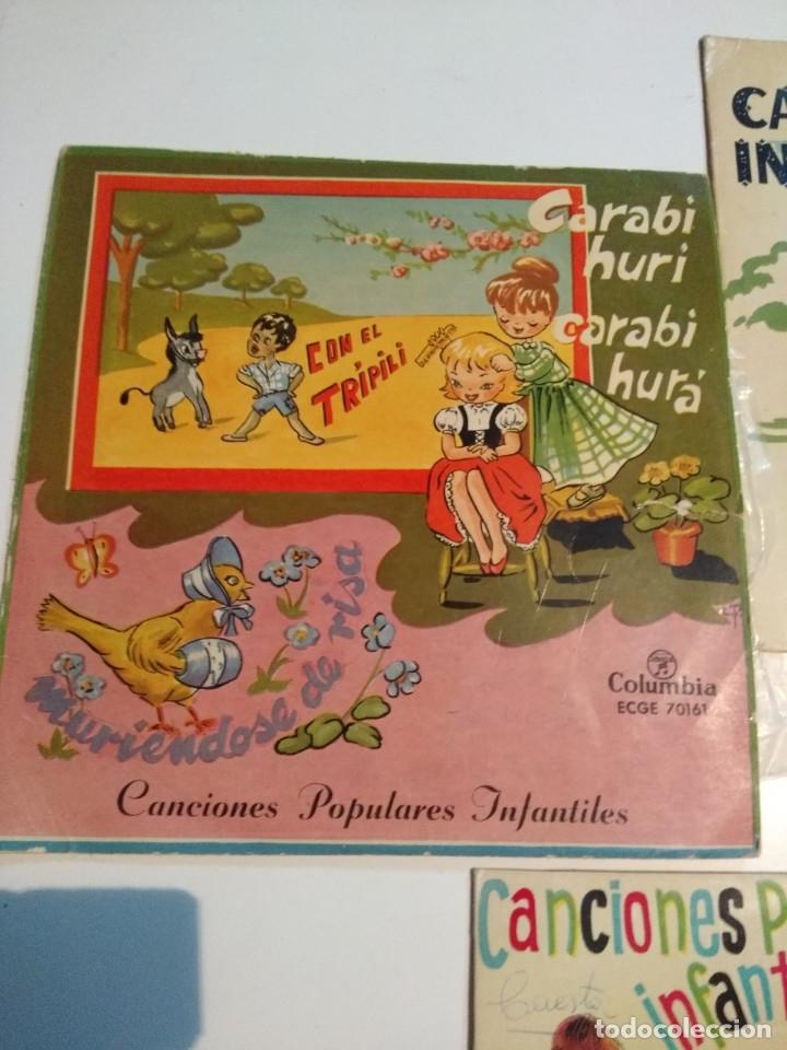 Discos de vinilo: 3 EP DE CANCIONES POPULARES INFANTILES : CARABI HURI, PIPIRIGAÑA, MARIQUITA, PIRULITA, UNI DOLI ETC - Foto 4 - 172816843