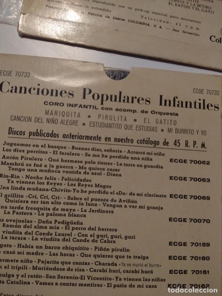 Discos de vinilo: 3 EP DE CANCIONES POPULARES INFANTILES : CARABI HURI, PIPIRIGAÑA, MARIQUITA, PIRULITA, UNI DOLI ETC - Foto 5 - 172816843