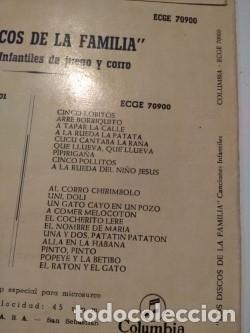 Discos de vinilo: 3 EP DE CANCIONES POPULARES INFANTILES : CARABI HURI, PIPIRIGAÑA, MARIQUITA, PIRULITA, UNI DOLI ETC - Foto 7 - 172816843