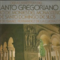 Discos de vinilo: OBRAS MAESTRAS CANTO GREGORIANO SILOS. Lote 172853225